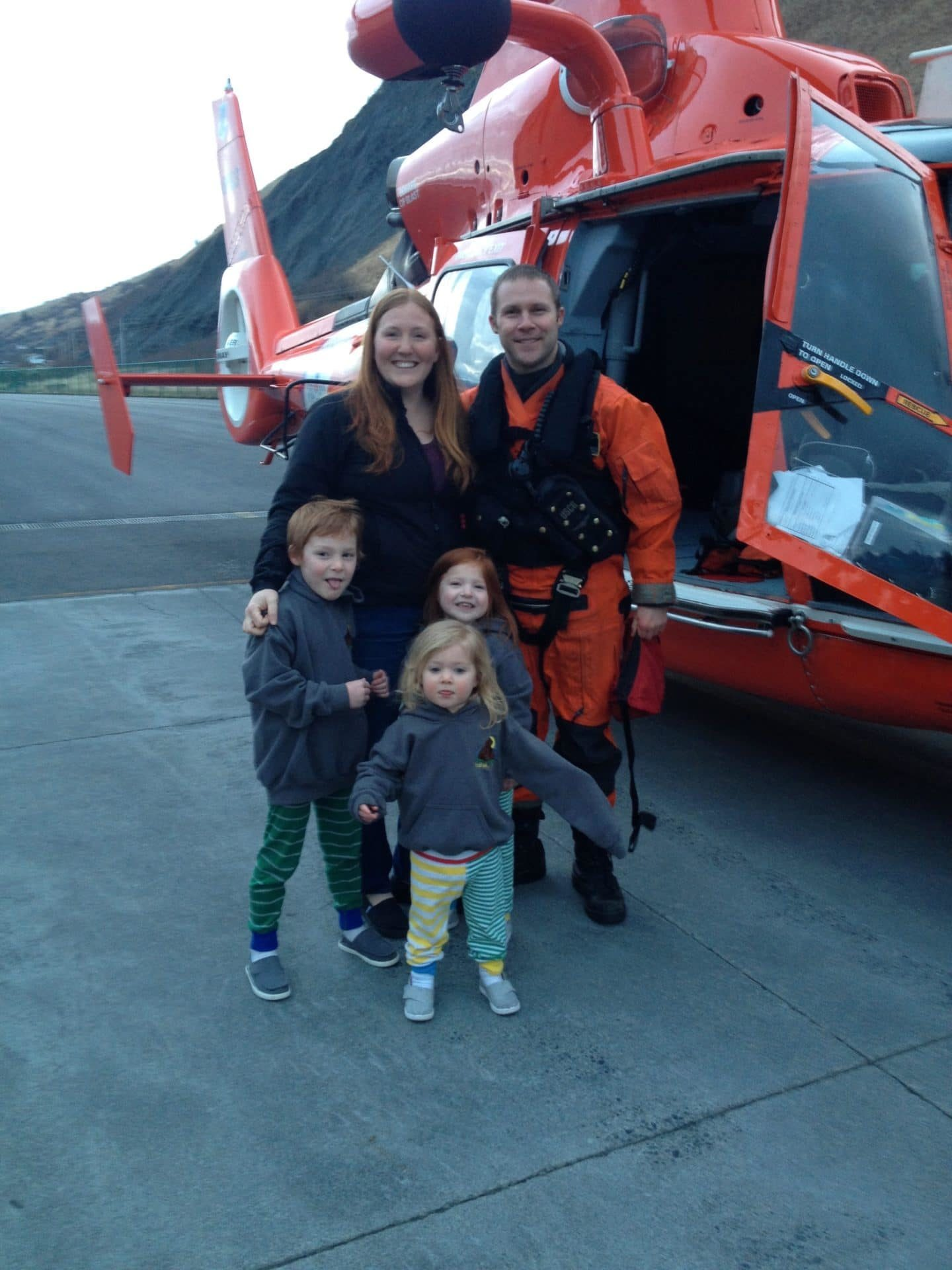 coast guard dad with family