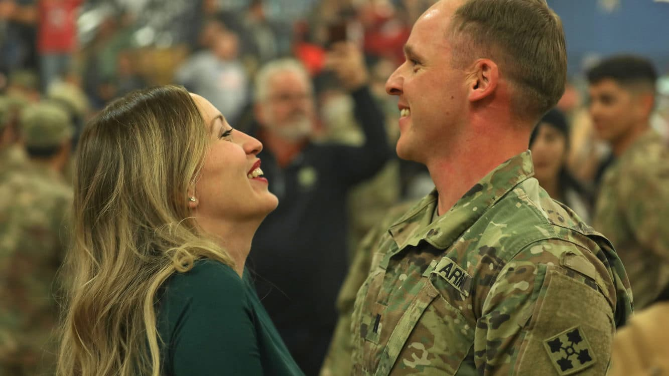 military marriage homecoming