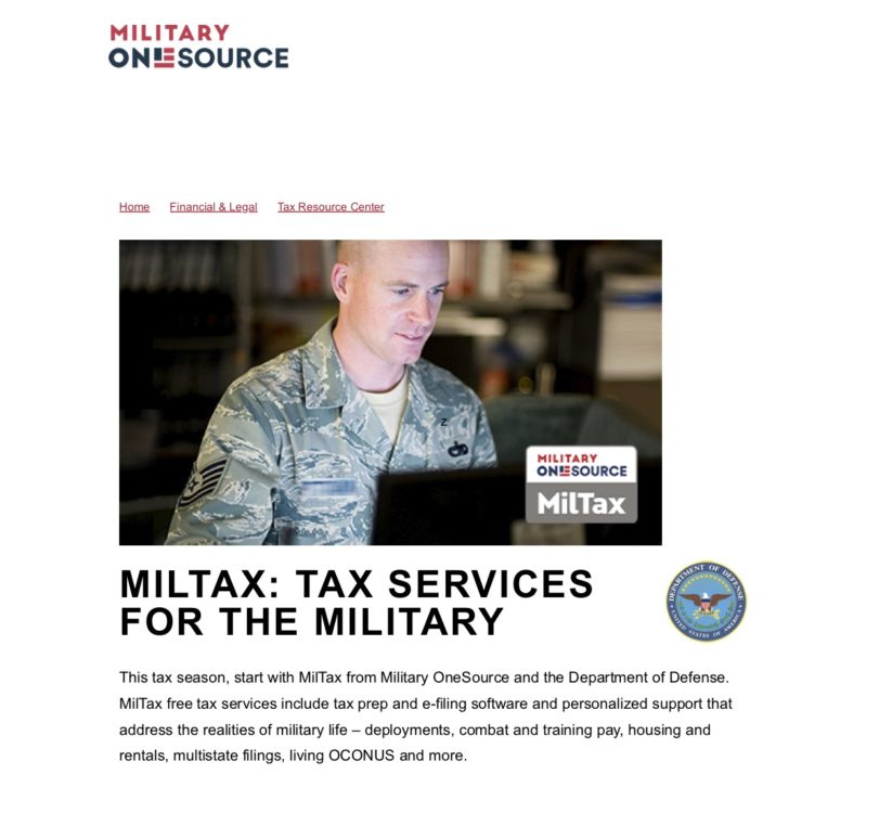 filing taxes in the military